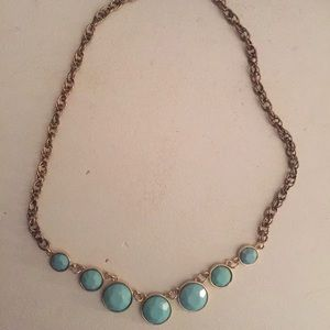 Jewelry - Aqua blue bubble statement necklace